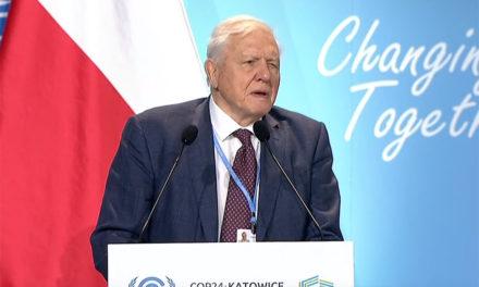 Attenborough urges action on climate change