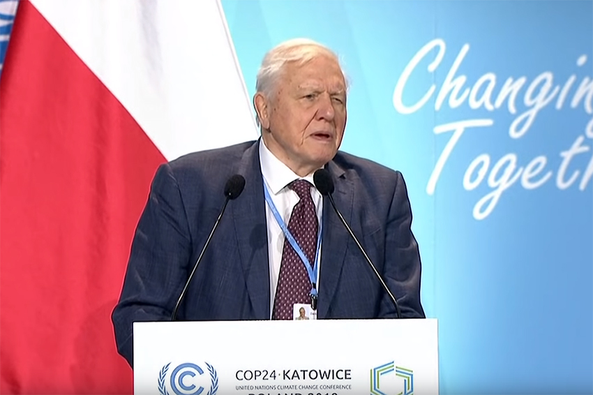 Attenborough urges action on climate change