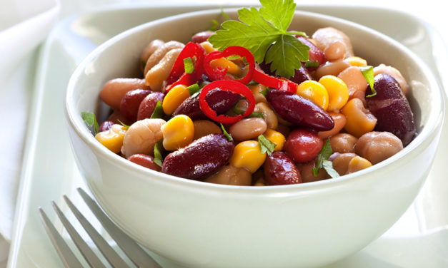 Really simple quick bean salad