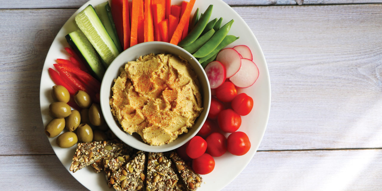 No Oil Hummus with Five Seed Crackers